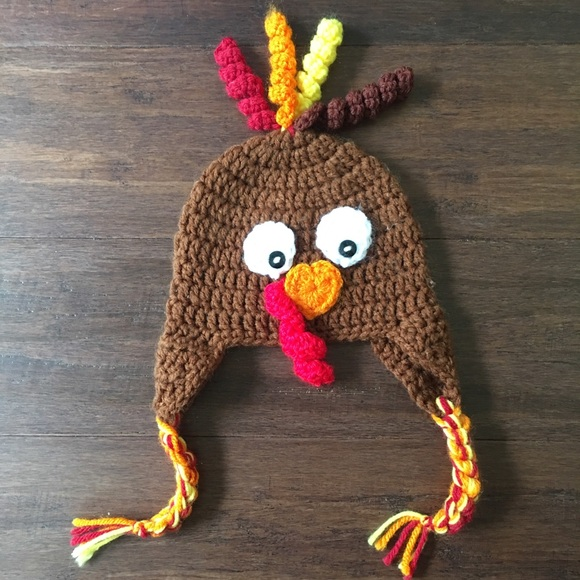 Accessories Hand Knit Infant Turkey Hat 03 Mos Poshmark